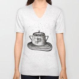 Malevich in sugar-bowl Unisex V-Neck