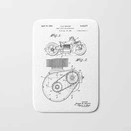 Motorcycle Patent Art Bath Mat