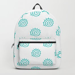 Aqua Spiral Abstract Pattern Backpack