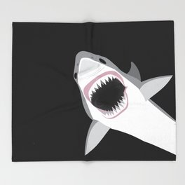Shark Attack Out of the Deep Throw Blanket