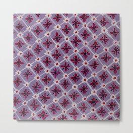 Mosaic in violet Metal Print