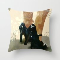 heels Throw Pillows featuring Heels by Tom Britton