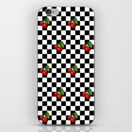 Checkered Cherries iPhone Skin