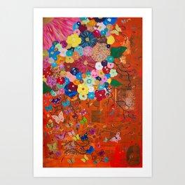 Tangerine Garden Art Print