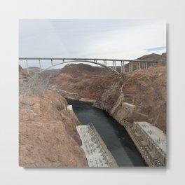 Lake Mead Spillway And Memorial Bridge Metal Print