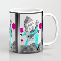globe Mugs featuring GLOBE by Vértice Design Studio