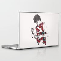 louis Laptop & iPad Skins featuring Floral Louis by Coconut Wishes