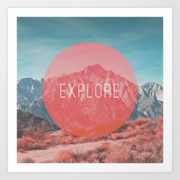 explore Art Prints featuring Explore by Zeke Tucker