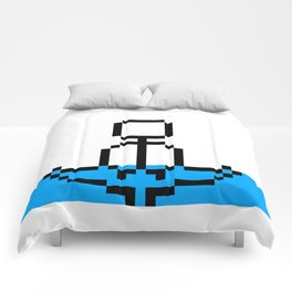 Pixel Art Yoga Sitting Pose Comforters