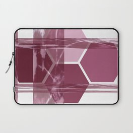 Burgundy Geometric Laptop Sleeve