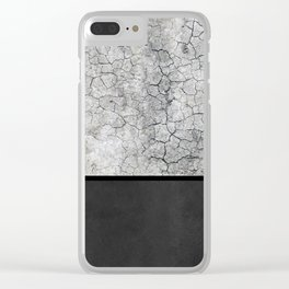 Rock the Casbah // concrete and paint colorblock collage Clear iPhone Case