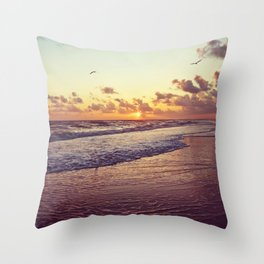 Sunset at Sanibel Throw Pillow