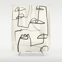 Abstract line art 12 Shower Curtain