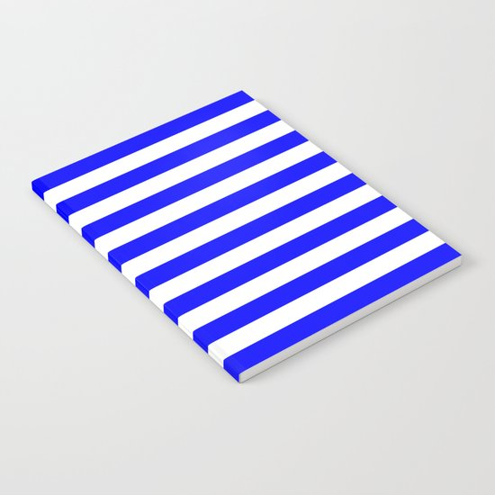 Horizontal Stripes (Blue/White) Notebook