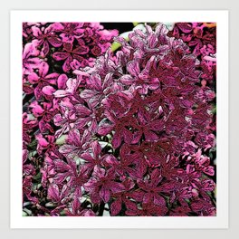 PINK & PURPLE FLORAL PATTERN FROM SOCIETY6 Art Print