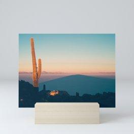 Sunrise on Salar de Uyuni Mini Art Print