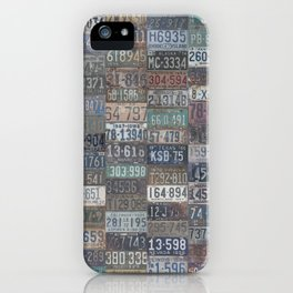 Vintage USA License Plates iPhone Case