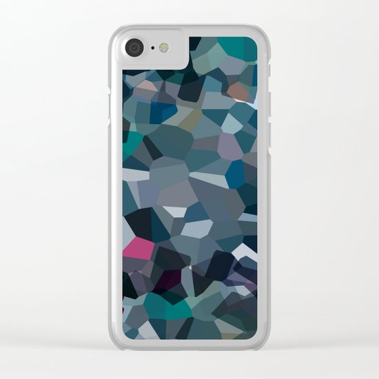 Ash Moon Love Clear iPhone Case