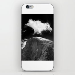 Half Dome Looms on a Cold Spring Day and a Cloud Grows on the Updraft iPhone Skin