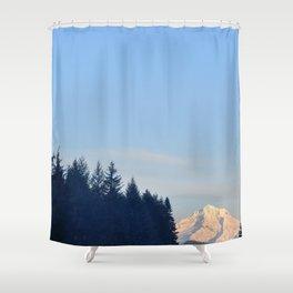 MOON OVER MT. HOOD OREGON Shower Curtain