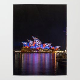 Southern Swan Ship and Sydney Opera House Poster