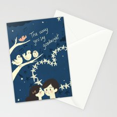 The way you say goodnight. Stationery Cards
