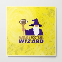 Fantasy Football Wizard Metal Print