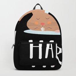 Hammy Tired Funny sleeping Hamster Gift Backpack