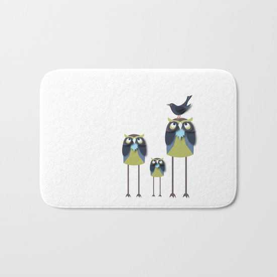 Long-Legged Owls Bath Mat