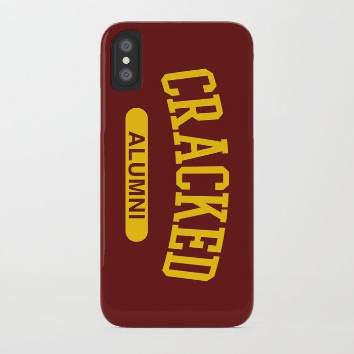 Cracked Alumni iPhone Case