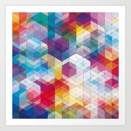 Cuben Curved #4 Art Print