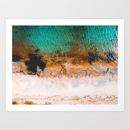 Bay overview from a drone with clear water Art Print
