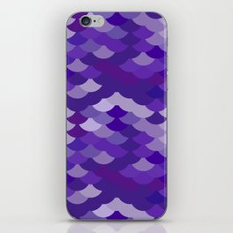 Ultra Violet wave, abstract simple background with japanese seigaiha circle pattern iPhone Skin