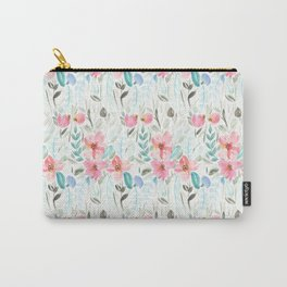 Garden Watercolour Floral Carry-All Pouch