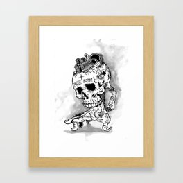 HOT SKULL Framed Art Print