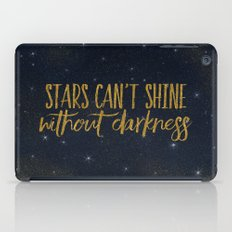 Stars- Darkness - sparkling gold glitter night typography 1 iPad Case