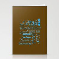 ravenclaw Stationery Cards featuring Ravenclaw by husavendaczek