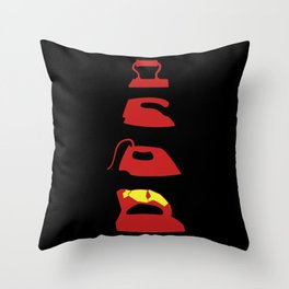 History of the Iron Throw Pillow