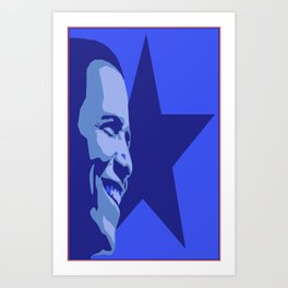 Red, White and Blue Obama Art Print