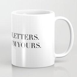 3 WORDS 8 LETTERS Coffee Mug