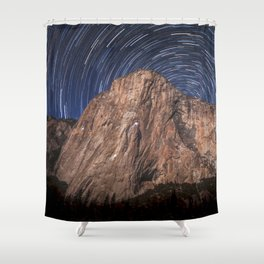 El Capitan Startrail 9-16-18 Shower Curtain