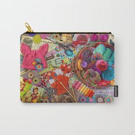 Vintage Yarn & Thread Carry-All Pouch