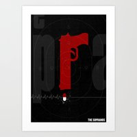 sopranos Art Prints featuring The Sopranos Poster by Take Heed