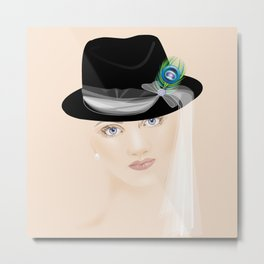 Fascinators: Fedora Metal Print