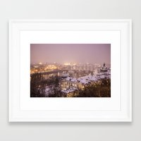 prague Framed Art Prints featuring Prague 3 by Veronika