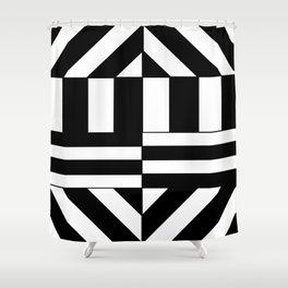 Hectic Harlequin Shower Curtain