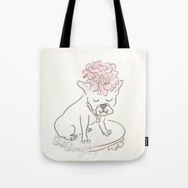 French Bulldog Flower Power : Fashion and Fluffballs Tote Bag