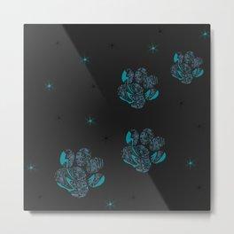 blue cat paws Metal Print
