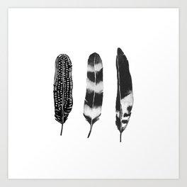 Dark Feather Art Print