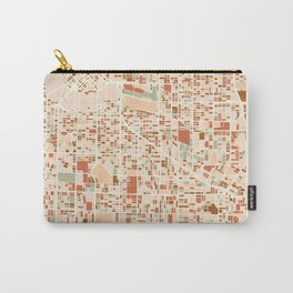 VANCOUVER CANADA CITY MAP EARTH TONES Carry-All Pouch